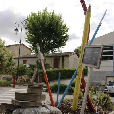 Sculpture de l'école