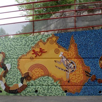 Grande mosaïque de l'école