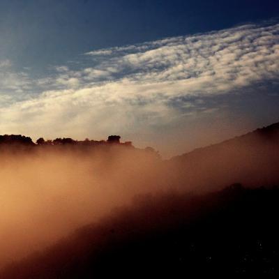 Vue de Soucanton sous la brume